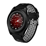 T.Face New Tf8 Bluetooth Android Smart Watch Sports Fitness Activity Support Memory Card Sim Card Watch Phone Smartwatch (Gray)