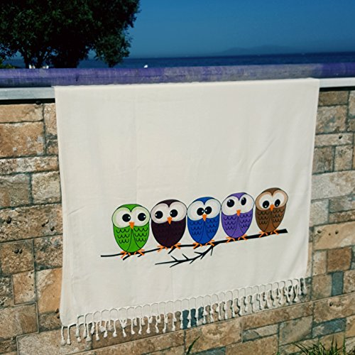Lightweight Bamboo Beach Towel, Highly Soft, Natural Dyed Pr