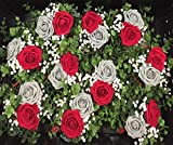 D-Seven Artificial Flowers Fake Roses Wedding