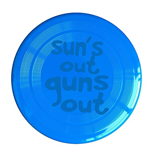 YQUE56 Unisex Sun's Out Guns Out Outdoor Game Frisbee Sport RoyalBlue