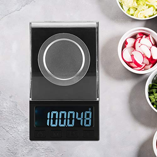 Portable Electronic Scales,100g / 0.001g LCD Mini Electronic High Precision Kitchen Digital Food Jewelry Scale Weight Measuring Tool for Jewelry Powder Scale Laboratory