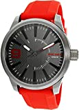 Diesel Men's DZ1806 RASP Gunmetal IP Red Silicone Watch