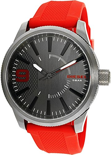 Diesel Men's DZ1806 RASP Gunmetal IP Red Silicone Watch by Diesel (Image #1)