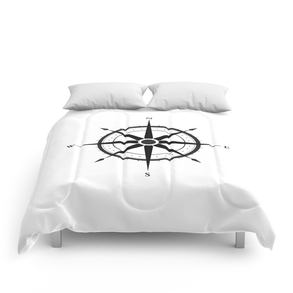 Society6 Compass Comforters Queen: 88'' x 88'' by Society6