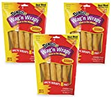 Cheap 24-Count Dingo Wag'n Wraps Slims, (3 Packs with 8 Chicken Slims per Pack)