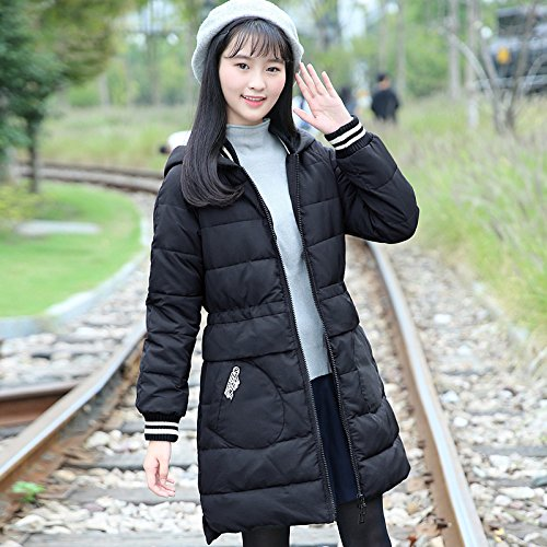 Xuanku Winter Clothing Cotton Clothing, Long, Thick Cotton And Cotton Coat Jacket Female In The College. Black