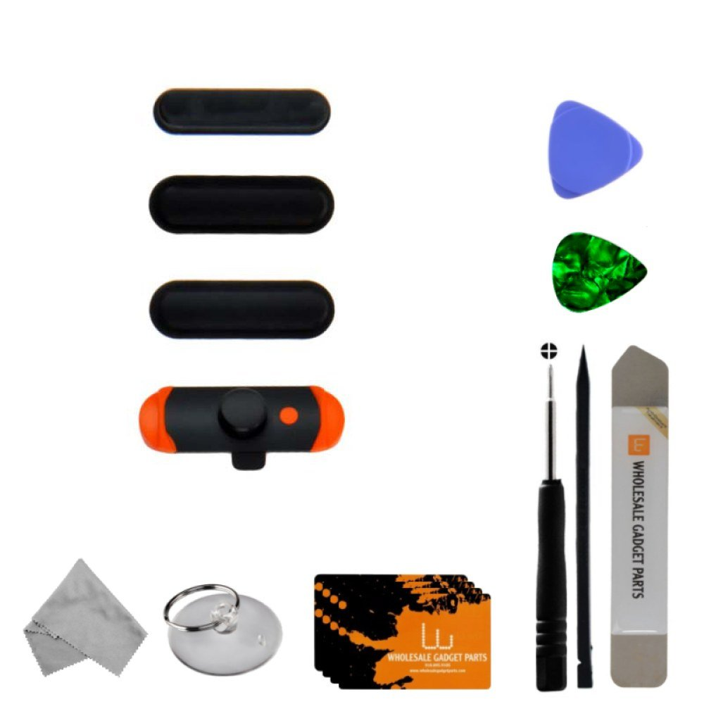Button Set (Volume, Power Buttons, & Mute Switch) for Apple iPad Air (Black) with Tool Kit