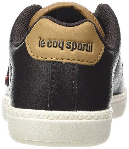 Le Coq Sportif Jungen Courtone GS S Lea Craft Trainer Low Braun (Reglisse/tan)