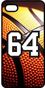 Basketball Sports Fan Player Number 64 Black Rubber Decorative iPhone 6 PLUS Case
