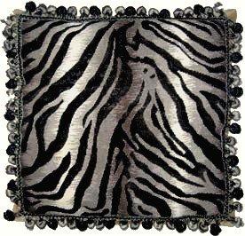 Needlepoint Zebra (Deluxe Pillows Zebra Design - 18 x 18 in. needlepoint pillow)