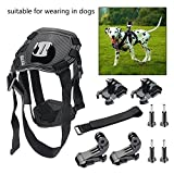 BAXIA TECHNOLOGY Dog Harness Chest Mount for Dog Chest Harness Chest Strap Accessories Kit for GoPro HERO 4 Black GoPro HERO 4 Silver GoPro HERO 3+ GoPro HERO 3 GoPro HERO 2 and SJ4000 SJ5000 SJ6000 Sports Camera Camcorder Accessory Kit