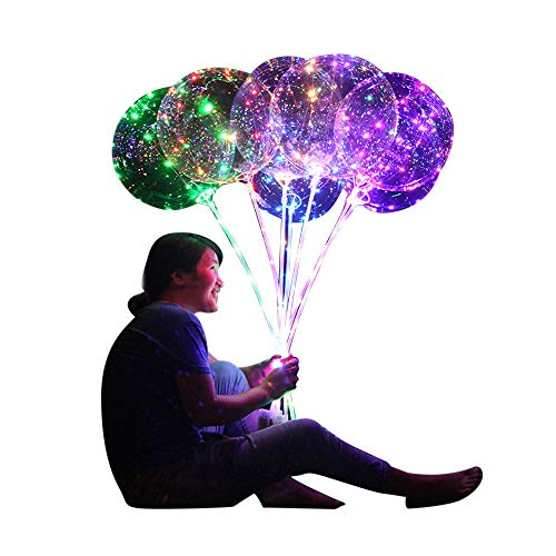 Luminous Led Balloon, Reusable/Transparent/Round for Party Wedding Various Festivals Anniversary Celebrations