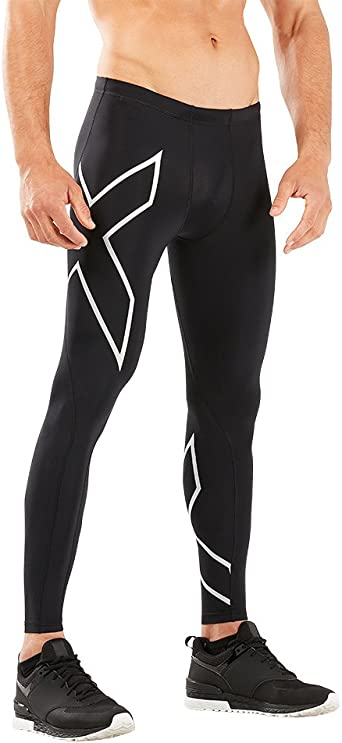 2XUMens Thermal Compression Long Tights SAVE $$$ Black // Silver Logo