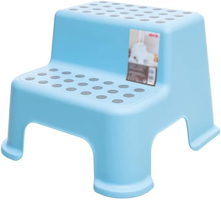 KX-QIN Taburete for niños, Taburete for niños de 2 peldaños, Taburete for peldaños de plástico resistente for niños Uso del fregadero y capacitación for usar el inodoro, Taburetes for niños con peldañ: