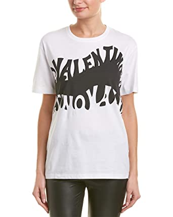 online here limited style Good Prices Valentino Womens Psychedelic Logo T-Shirt, S, White at ...