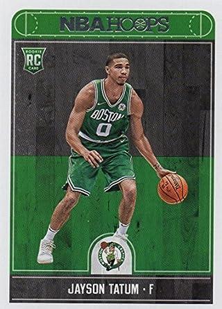 994a271e77d Amazon.com  2017-18 Panini NBA Hoops Basketball  253 Jayson Tatum Rookie  Card - Boston Celtics  Collectibles   Fine Art