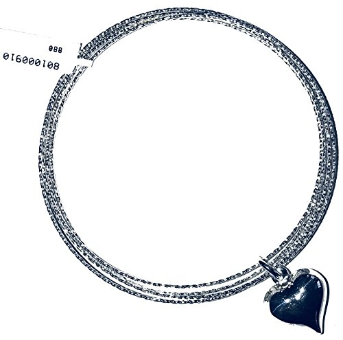 Fortunoff Kouzi's Castle LLC offers Five Strand Slip on Bracelet with Dangling Heart Charm (Fortunoff)