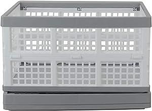 Wekiog 36 Quart Storage Crates, Collapsible Milk Crate, 2 Packs