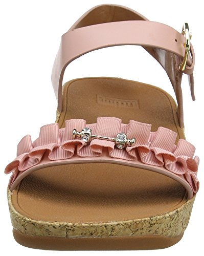 Womens Toe Dusky Ruffle Fitflop Sandals Open Back Pink Pink Strap UnfxwRSqp