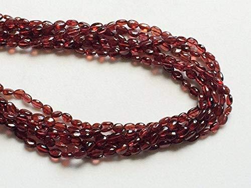 1 Strand Natural Mozambique Garnet Oval Beads, Garnet Necklace, Wholesale Garnet 3x5mm Approx, 13 Inch by Gemswholesale