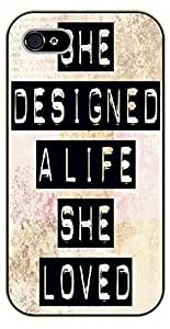 iPhone 5C She designed a life she loved - black plastic case / Life Quotes hjbrhga1544