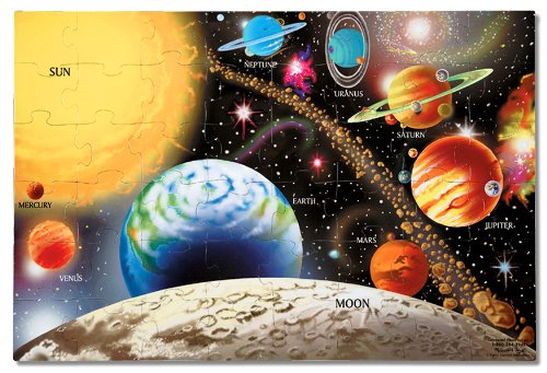 Melissa & Doug Solar System Floor Puzzle (48 Pieces), 2 x 3 feet