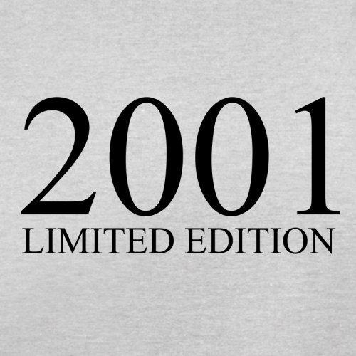 2001 Limierte Auflage / Limited Edition - 16. Geburtstag - Herren T-Shirt - Hellgrau - XL