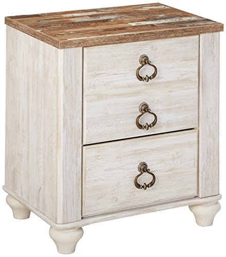 Signature Design by Ashley B267-92 Willowton Nightstand, White