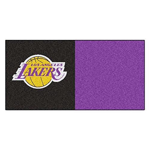 FANMATS NBA Los Angeles Lakers Nylon Face Team Carpet Tiles by Fanmats
