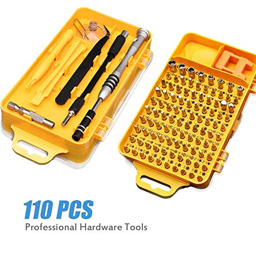 Volwco 110 in 1 Precision Multifunction Screwdriver Set,Mini Magnetic Screwdriver Kit Professional Repair Tools for Phone,iPad,Camera,PC,Cell Phone