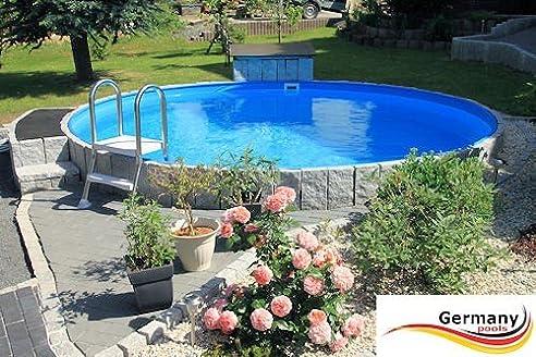 Stahlwandpool im garten  Rundpool 2,00 x 1,35 Pool 2 m Swimmingpool Stahlwandbecken ...