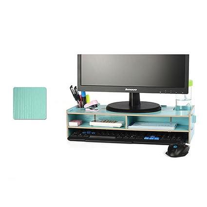 flasheagle soporte de monitor de sobremesa de madera organizador de soporte de elevador de Monitor y