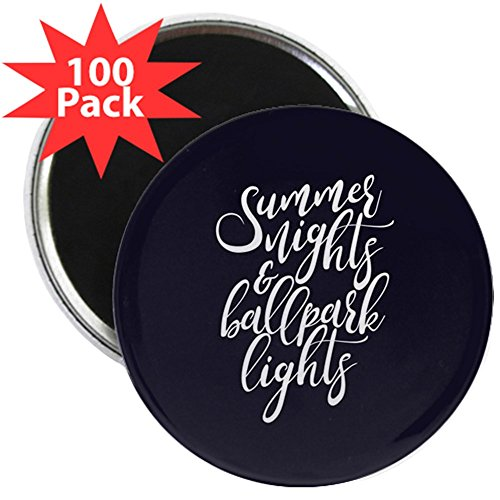 CafePress - Summer Nights And Ballpark - 2.25'' Magnet (100 pack) by CafePress
