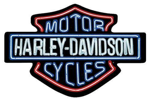 harley-davidson-neon-lights-embossed-bar-shield-tin-sign-19-x-12-in-2011381