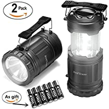 LED Camping Lantern-2 Pack Swiftrans Ultra Bright Portable Lantern Flashlights Collapsible Camping Equipment for Survival, Emergence, Outdoor Hiking, Hurricanes, Storms, Outages