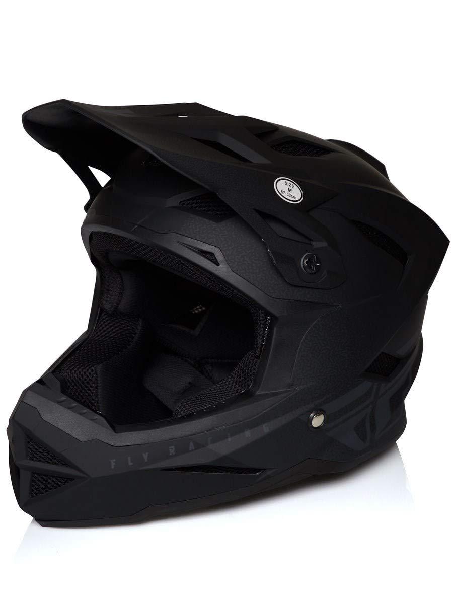 Fly Racing MTB Full Face Helm 2019 Default Schwarz-Grau (Large, Schwarz)