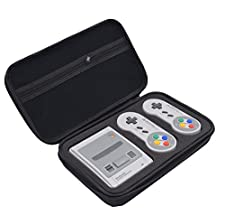 Esimen Carrying Case for SNES Classic Mini Edition , Hard Box for Nintendo Super NES Classic Mini Console Japanese ver SNES SFC, 2 Controllers, HDMI Cable and other Accessories Storage Bag (2017)