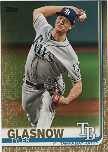 2019 Topps Gold Border #115 Tyler Glasnow Tampa Bay Rays MLB Baseball Card Serially Numbered out of 2019