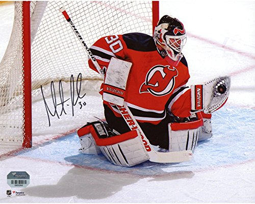 """Martin Brodeur New Jersey Devils Autographed 8"""" x 10"""" Red Glove Save Photograph - Fanatics Authentic Certified"""