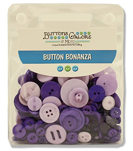Buttons Galore and More Basics & Bonanza Collection - Extensive Selection of Novelty Round Buttons for DIY Crafts, Scrapbooking, Sewing, Cardmaking, and other Art & Creative Projects -
