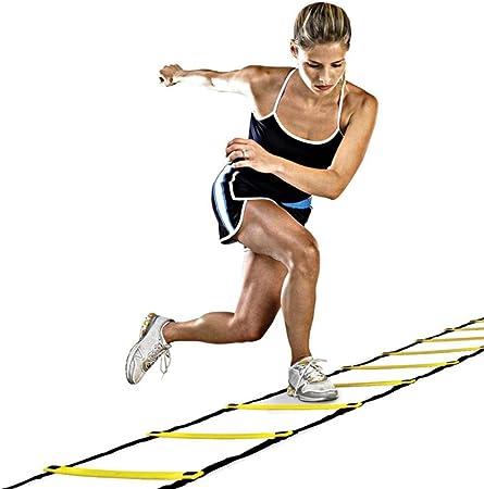 BQP Escaleras de Entrenamiento Escaleras de Velocidad Escaleras de Nylon Escalera ágil Escalera para Fitness Fútbol Velocidad, Ejercicio: Amazon.es: Hogar