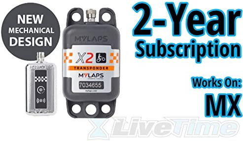 MyLaps X2 Transponder, Rechargeable, for MX motocross , includes 2-Year Subscription