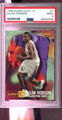 1996-97 Fleer Lucky 13#1 Allen Iverson ROOKIE RC NBA MINT PSA 9 Graded Card