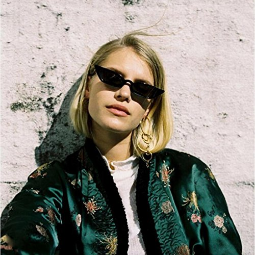 de Vintage UV400 Eyewear Femmes Lunettes Small Cat Frame soleil Noir Culater® Retro Eye qFXxB5P