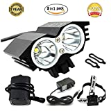 GYY Rechargeable Bicycle LED Front HeadLight Headlamp Set Combinations Waterproof (COLOR-1)