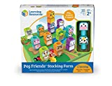 Learning Resources Peg Friends Stacking Farm Animals Set for Toddlers, 25 Pieces