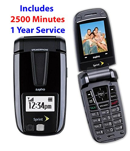 Sanyo SCP-3200 Black No Contract Sprint Cell Phone