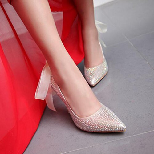 Sexy UK3 Schön Gold Stilettos größe Farbe Elegant Heels Pumps Absatz 5 CN35 Modisch 10cm Brautschuhe Frau High EU36 XUERUI pRCwqYaYg