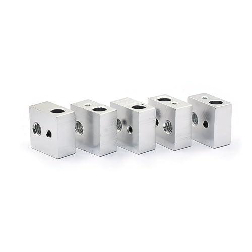 popprint Radiador de aluminio bloque para MK7 MK8 3d impresora extrusor (paquete de ...