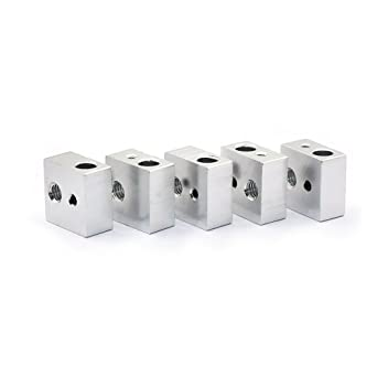 popprint Radiador de aluminio bloque para MK7 MK8 3d impresora ...